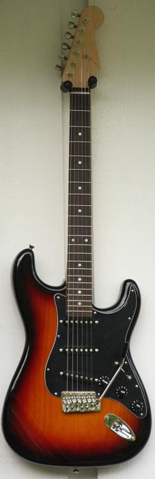 Sunburst Stratocaster black fret